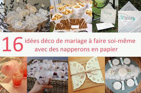 16 id es de d co de mariage avec des napperons en papier. Black Bedroom Furniture Sets. Home Design Ideas