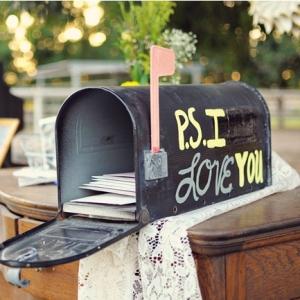 Urne mariage boite aux lettres us