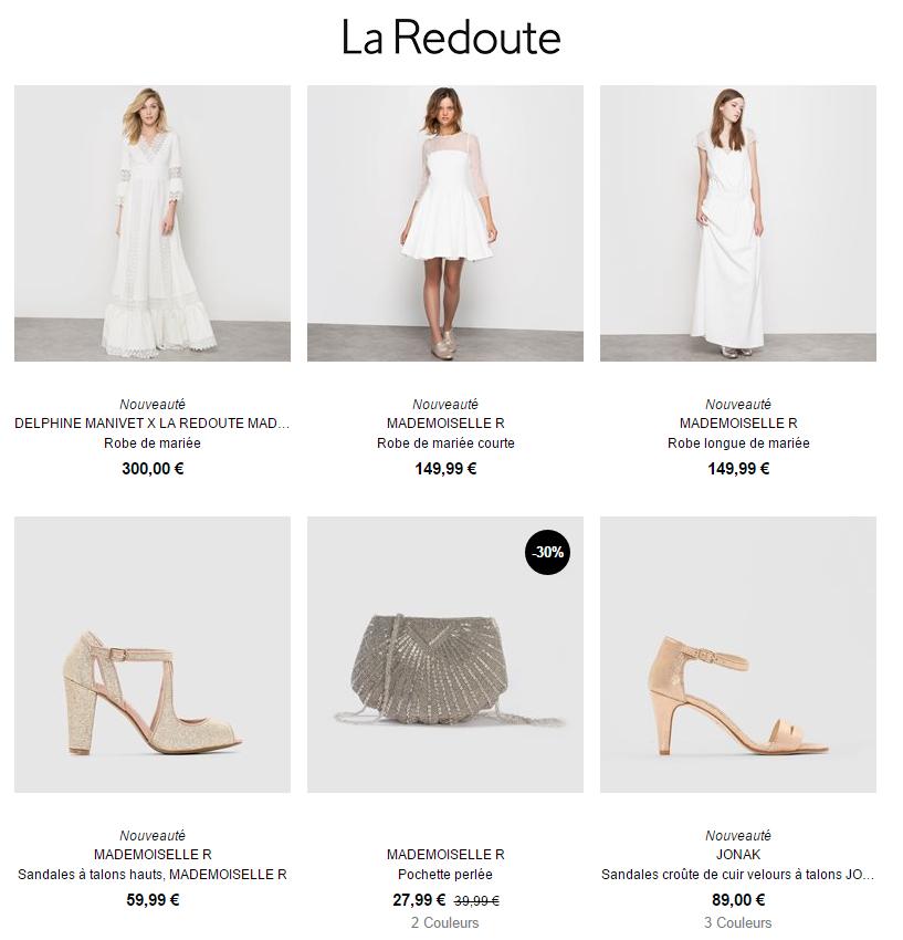 Acheter sa robe de mari e sur internet les bons plans mon mariage pas cher - Collection la redoute ...