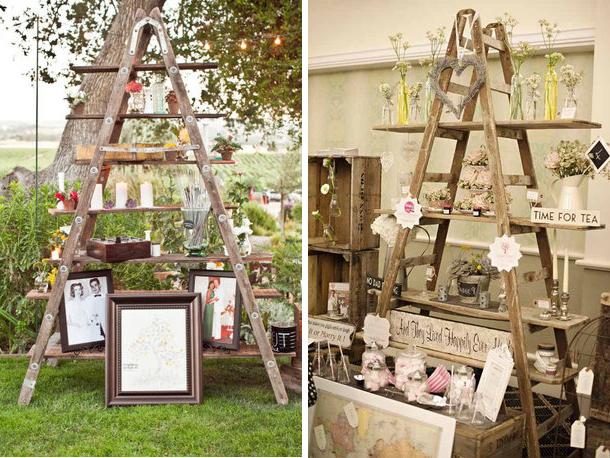 7 id es de recyclage de meubles ou objets en bois pour votre d co de mariage - Objet vintage pas cher ...