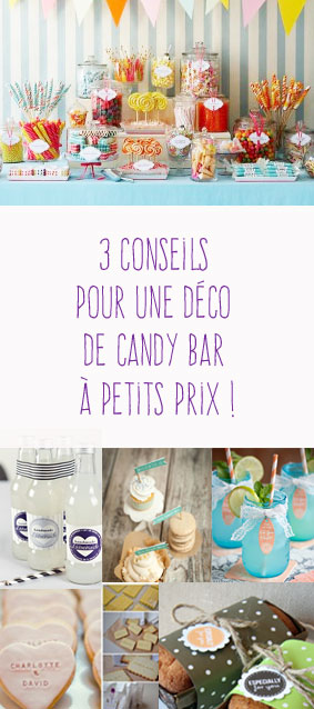 3 conseils pour une d co de candy bar petits prix. Black Bedroom Furniture Sets. Home Design Ideas
