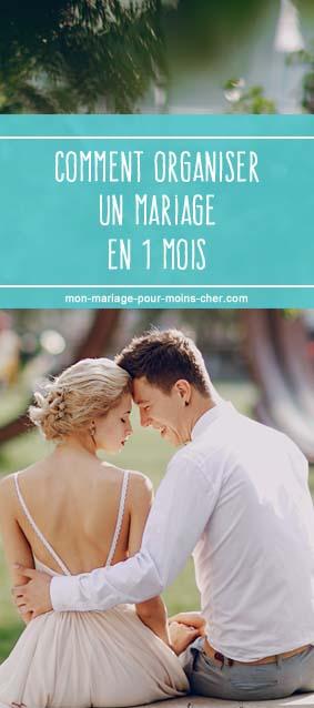 Comment organiser un mariage en 1 mois : le rétroplanning.