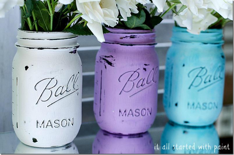 21 idées de déco de mariage avec des pots en verre de récup'