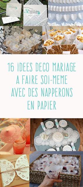 16 idées déco de mariage à fabriquer avec des napperons en papier.