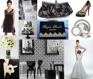 Black-White-Lace-Wedding