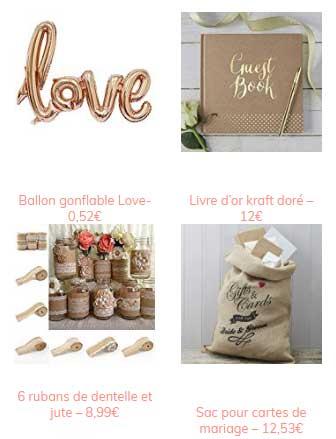 40 objets déco à acheter chez Amazon pour votre mariage