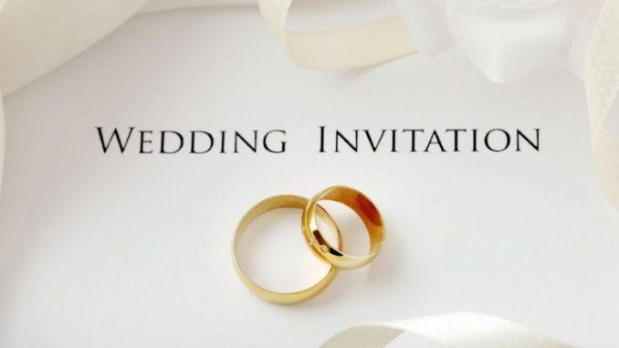 Invitation De Mariage Avec Alliances En Or